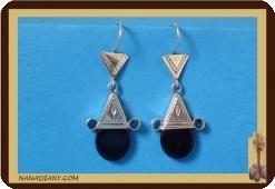Tuareg  Ohrringe (Silber/Glasperle)  Ref: 4602