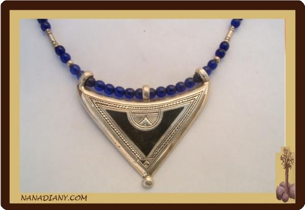 Tuareg silver necklace jewelry ethnic mali tuareg necklace mozeypictures Images